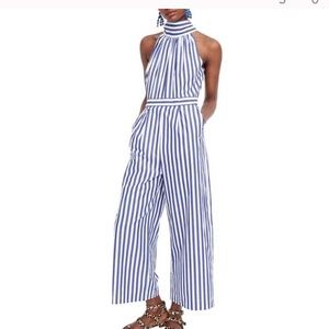 J Crew Striped Jumpsuit .. size 12